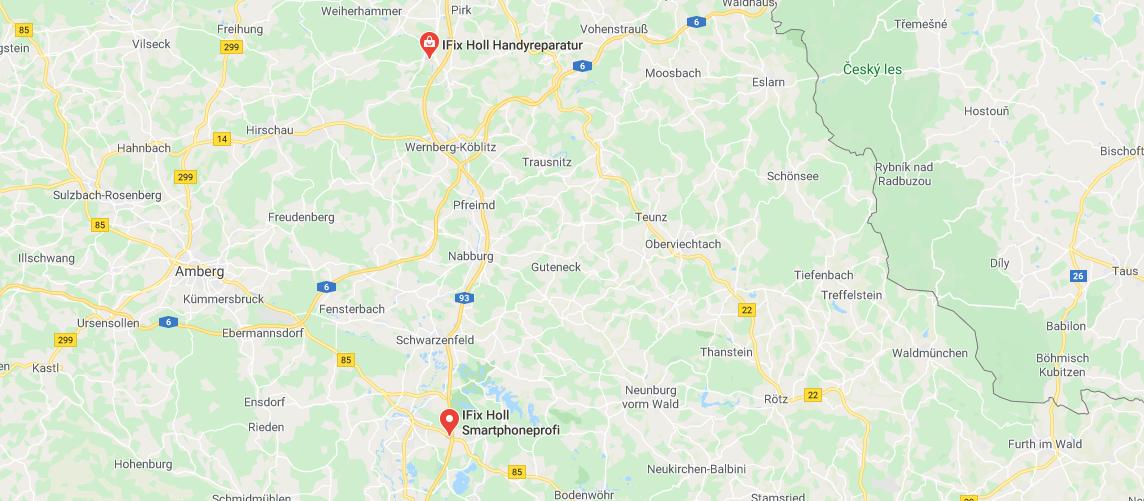Karte von den Standorten